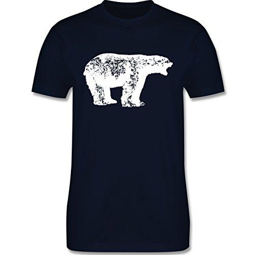 ShirtYouWant Tiermotive - Weißer Bär - L190 - Premium Männer Herren T-Shirt  mit Rundhalsausschnitt: ShirtYouWant: Amazon.de: Bekleidung