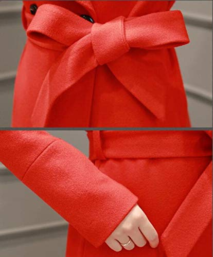 vent Automne D'automne Coupe Revers Dames Manteau De Élégante Hiver Et Manteau Chaud Coton Rouge Longue Dames Femme Laine D'hiver Veste Ab HatxFq4n