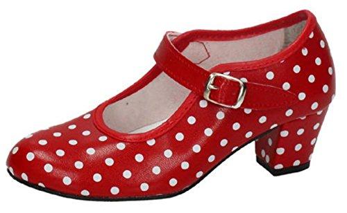 PASOS Shoes CREACIONES S Rojo L Dance BAILE Women's DE d0nxnp