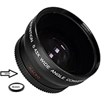 Wide Angle 0.43x Conversion Lens with Macro Close-Up Attachment For Nikon DL DL24-85 Premium Compact Camera with 24-85mm f/1.8-2.8 Lens (40.5mm)