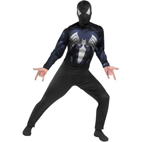 Disguise Men's Marvel Spider-Man Black-Suited Classic Costume, Black, X-Large