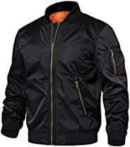 TACVASEN Men's Jackets-Windproof Flight Bomber Jacket Winter Warm Padded Coats Out