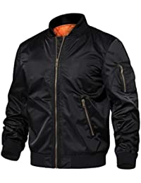 Men's Jackets-Windproof Slim Fit Flight Bomber Jacket Winter Warm Padded Coats Outwear