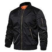 TACVASEN Men's Jackets-Windproof Flight Bomber Jacket Winter Warm Padded Coats Outwear