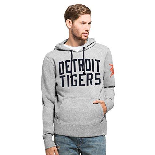 MLB Detroit Tigers Men's '47 Gamebreak Cross-Check Pullover Hood, Large, Slate Grey - Detroit Tigers Hooded Pullover Jacket