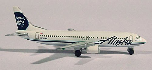Herpa Wings Aircraft Model 2468 Alaska Airlines Boeing B-737-4Q8