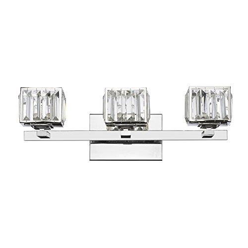 Chloe Lighting CH820038CM21-BL3 Contemporary 3 Light Chrome Finish Crystal Globe Bath Vanity Wall Fixture 21