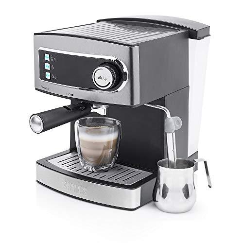Princess 249412 Máquina de café para espresso italiano, Compatible con cápsulas Nespresso, 20 bares de presión, Depósito…