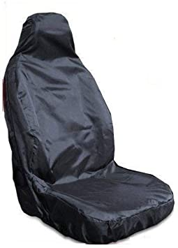1 x Front Single Heavy Duty Driver Captain Passenger Van Car Seat Cover Protector Waterproof For Ford Fiesta MK7 BLACK