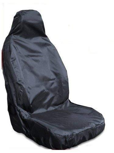 1 x Front BLACK Single Heavy Duty Driver Captain Passenger Van Car Seat Cover Protector Waterproof For Ford Transit Connect All Years