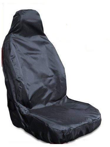 For Vauxhall Corsa Van BLACK Single Heavy Duty Driver Captain Passenger Van Car Seat Cover Protector Waterproof 1 x Front