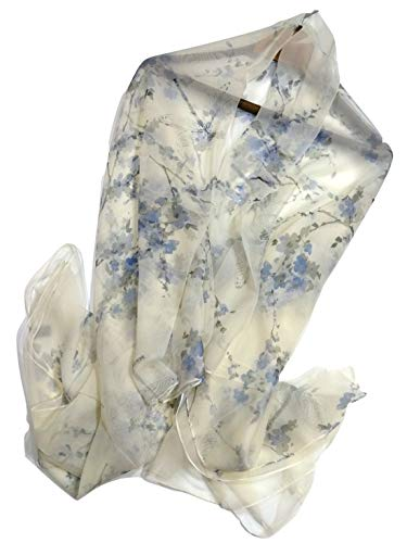Shanlin Super Large Silk Feel Floral Scarves for Women in Gift Box - Scarf Long Floral Silk