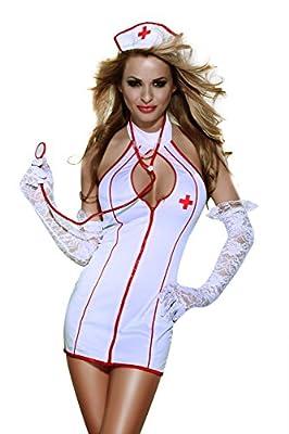 xspice Sexy Nurse Costume Halloween Cosplay Women Lingerie Set With Headpiece
