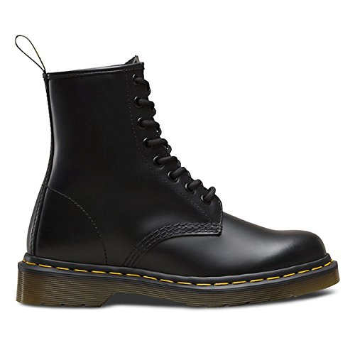 Dr.Martens Womens 1460 8 Eyelet Smooth Black Leather Boots 7 (8 Eyelet Leather)