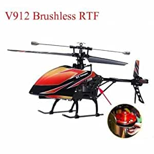 Bheema Alta calidad WLtoys V912 4CH sin escobillas RC helicóptero con Gyro RTF - Green