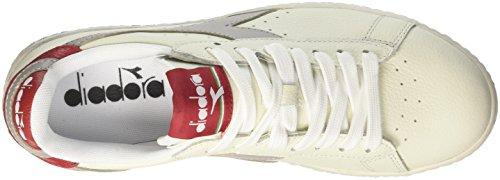 Diadora Heren Game L Laag Gewaxt Mens Witte Tennisschoenen Off White (bianco Grigio Paloma)