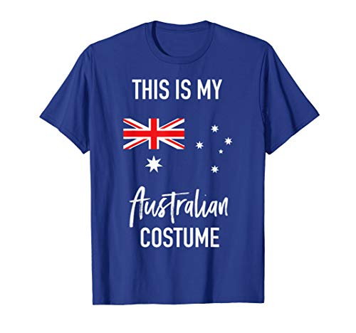 This is my Australian Costume T-Shirt - Funny Halloween Tee ()