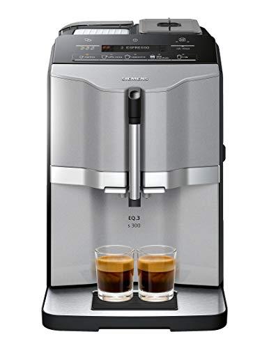 Siemens super-automatic espresso coffee machine with grinder, double boiler, milk frother, maker for brewing espresso, cappuccino, latte, macchiato EQ.3 s300 TI303203RW