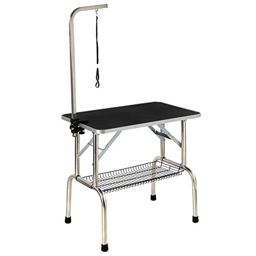 Giantex Large Portable Grooming Table