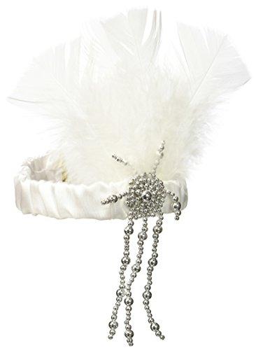 Forum Novelties 59459 Charleston Flapper Headpiece, White