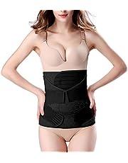 3 in 1 Postpartum Support - Recovery Belly/waist/pelvis Belt Shapewear Slimming Girdle (One Size, Black)