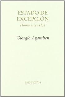 Estado de Excepción. Homo Sacer II, 1 par Agamben