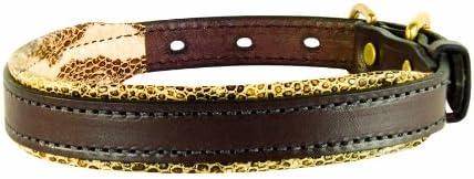Perri's Padded Leather Dog Collars in Metallic