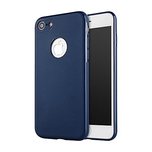 SULADA TPU Cell Phone Tasche Hüllen Schutzhülle - Case für iPhone 7 4.7 inch Built-in Magnetic Holder Metal Sheet - Dark Blue