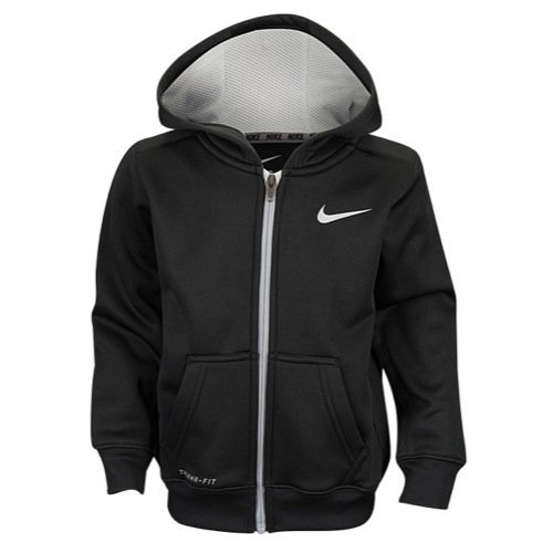 Nike Boys Dri Fit Therma Hoodie Jacket, Black (2T) by NIKE (Image #1)