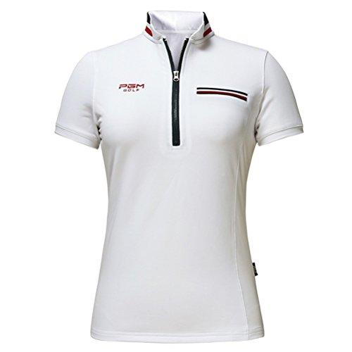 Kayiyasu ポロシャツ レディース ゴルフシャツ ゴルフウェア 半袖 Tシャツ 女性用 021-xsty-yf079(M ホワイト)