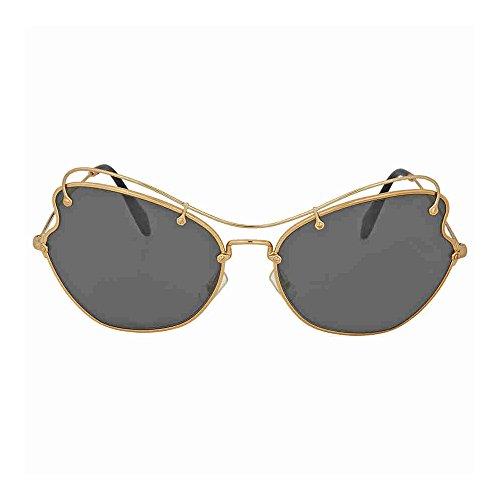 Miu Miu Women's Butterfly Sunglasses, Gold/Grey, One - Miu Butterfly Miu