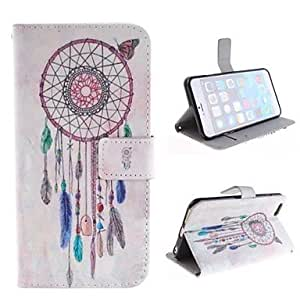 PG Women in Cap Design PU Leather Case with Card Slot and Stand for iPhone 6 Plus