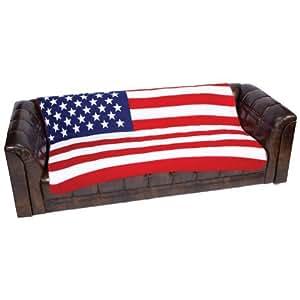 BF Systems GFLGBLK United States Flag Print Fleece Blanket