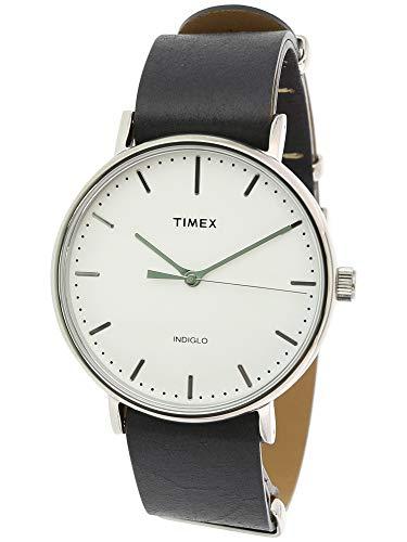 Timex TW2P91300CM Weekender Fairfield Men's Analog Display Quartz Watch, Black Leather Band, Round 41mm Case