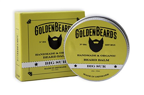 Organic Beard Balm -Big Sur - 60ML - 100% Natural | Jojoba & Argan & Apricot Oil, Patchouli , Lime and Lavender, all our products are 100% Handcrafted & Handmade. Made in Denmark