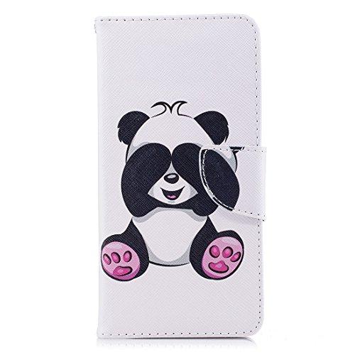 de peint conception aérosol Xiaomi carte en Shy 5 fermeture en avec PU fente magnétique portefeuille Hozor pour cuir cas Redmi support panda Flip protection étui d'impression avec qUnd8x