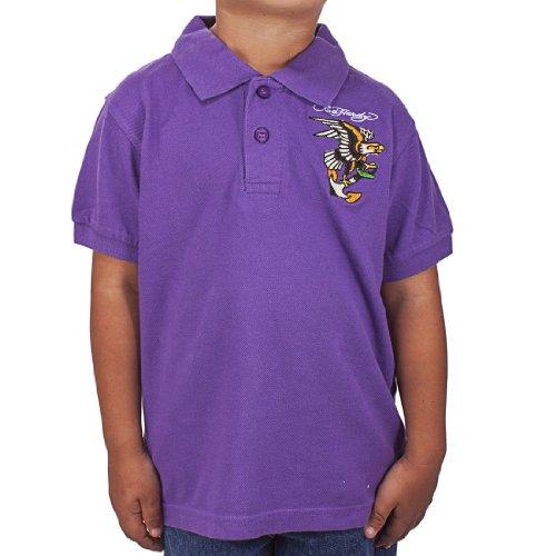 - Ed Hardy Toddlers Eagle Polo - Purple - 4/5