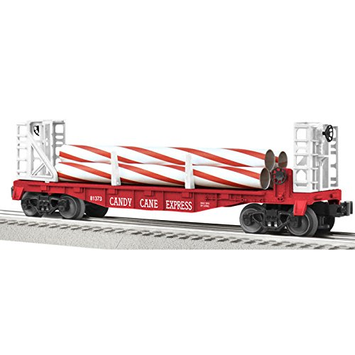 Candy Cane Flatcar with Bulkheads