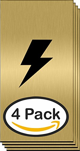 4 Pack | Engraving-Plastic Laminate-Sheet | Laser Brushed European Gold / Black 1/16 | 2 Ply Blank- Brass- Name Plates- For Plaques- | Semi Glare (Brushed Brass Lettering)