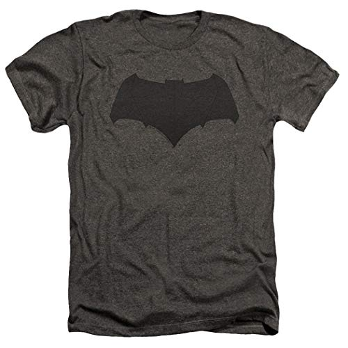 Popfunk Batman v Superman Movie Batman Uniform Logo Dark Gray Heather T Shirt (Medium)