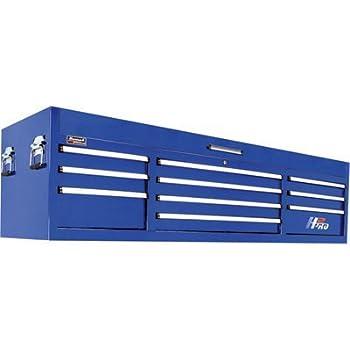 Homak BL02010720 H2PRO Series 72-Inch 10-Drawer Top Chest, Blue