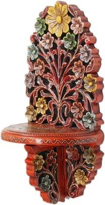 JaipurCrafts Decorative Jharokha Wooden Wall Shelf  Number of Shelves   1, Multicolor