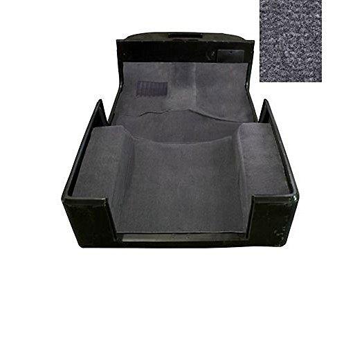 6 Pieces Full Set Carpet Kit Floor Mat Grey for Jeep Wrangler TJ 1997 1998 1999 2000 2001 2002 2003 2004 2005 2006