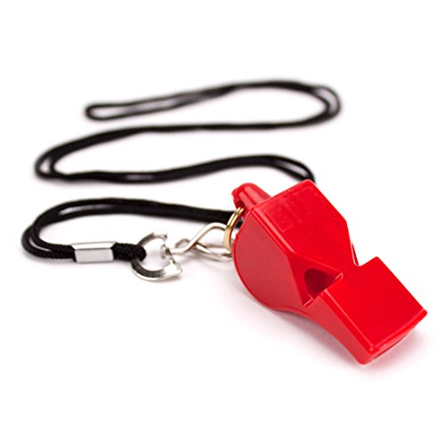 Crown Sporting Goods Ultra Loud High Pitch Red Plastic Whistle -
