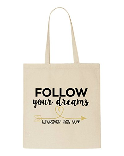 They Tote Your Follow Shopper Dreams Wherever Go Bag Beige qnqHP1xw