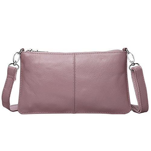 Card Slots Leather Lecxci Women with Purses Crossbody for Clutch Wallets Mauve Phone dp8Unx0URW