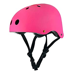 MqbY Helmet Adult Kids Skate BMX Scooter Skateboard Stunt Bike Crash Helmet 5 Color