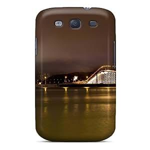 Premium UbysCqX1999TYPlQ Case With Scratch-resistant/ Beautiful Night Bridge In Macau Case Cover For Galaxy S3