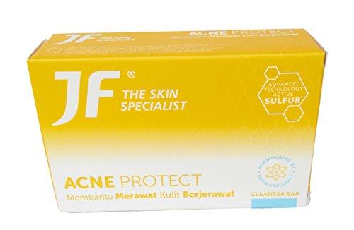 製造枠貫通JF Sulfur 皮膚科専門医のにきびjf石鹸、90グラムを守ります