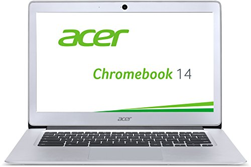 Acer (CB3-431-C6UD) 35,6 cm (14 Zoll Full HD IPS) Notebook (Intel Celeron N3160, 4GB RAM, 32GB eMMC, Intel HD Graphics, Chrome OS) silber